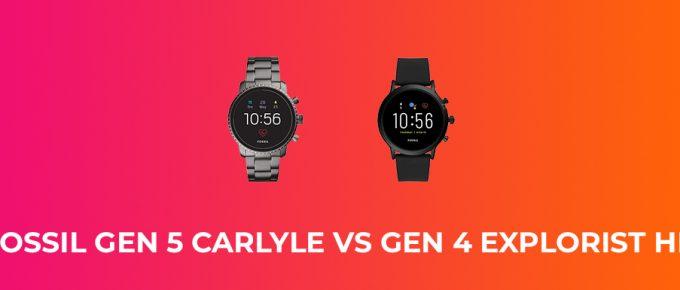 Fossil Gen 4 vs Gen 5