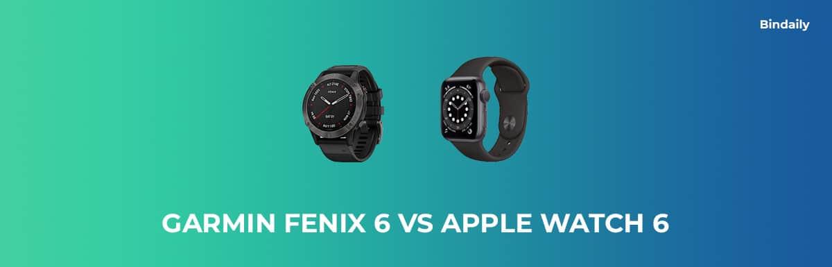 Garmin Fenix 6 vs Apple Watch 6